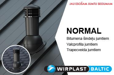 Ventilācijas izvadi NORMAL no WIRPLAST. Vinteko.