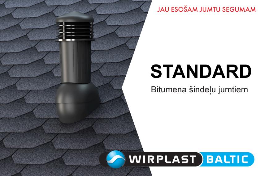 Ventilācijas izvadi STANDARD no WIRPLAST. Vinteko.