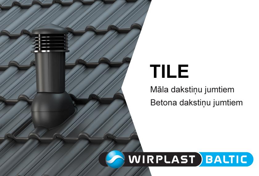 Ventilācijas izvadi TILE no WIRPLAST. Vinteko.