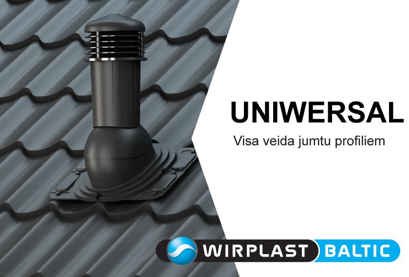 Ventilācijas izvadi UNIWERSAL no WIRPLAST. Vinteko.