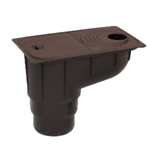 Pluvial catch pit (50-125, vertical runoff, brown)