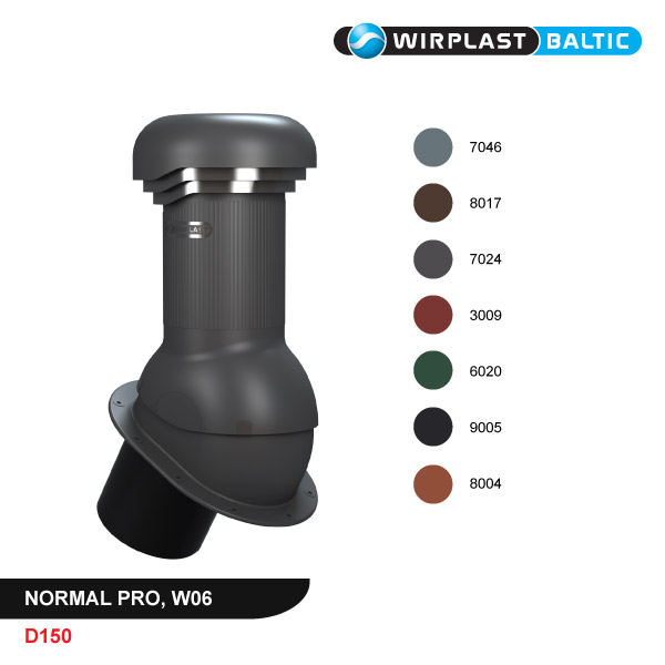 Roof vent D150, non-insulated PRO