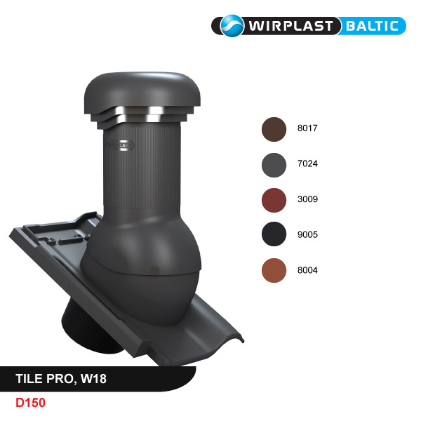 Roof vent D150, non-insulated