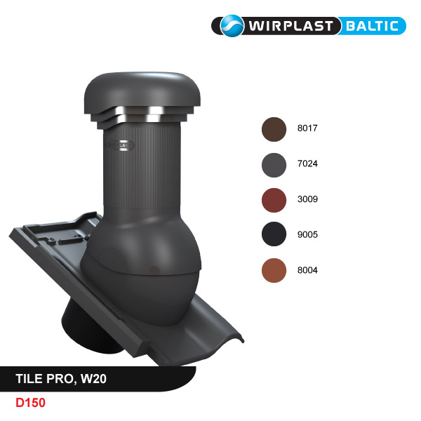 Roof vent D150, with electric fan