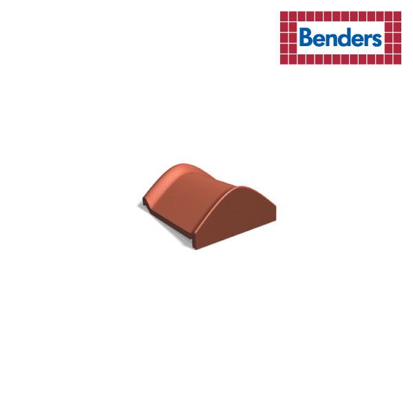 Ridge tile end with locking fold