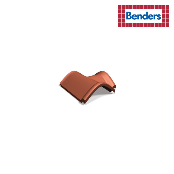 T-shaped end ridge tile with locking fold