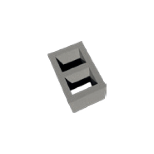 Two Venting Channel Module Block, 250x360/330 mm