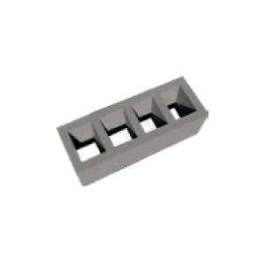Four Venting Channel Module Block, 250x680/330 mm