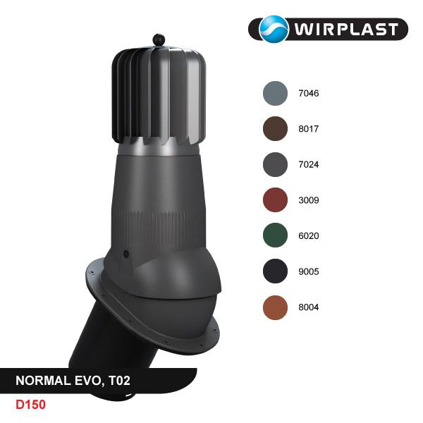 Ventilācijas izvads D150, ar mehānisko ventilatoru, EVO