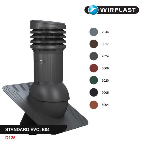 Вентиляционный выход D125, с электрическим вентилятором, EVO