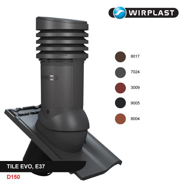 Вентиляционный выход D150, неизолированный, EVO