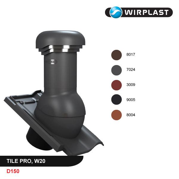 Вентиляционный выход D150, с электрическим вентилятором, PRO
